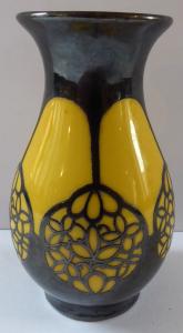 Žlutá malá vázička, stříbrný secesní ornament - Thomas (1).JPG