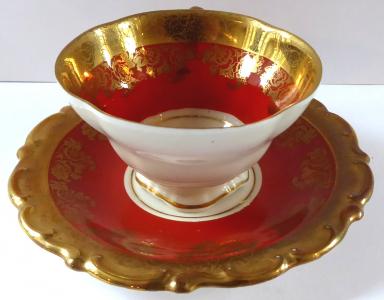 Moka šálek v rokokovém stylu - Bavaria (1).JPG