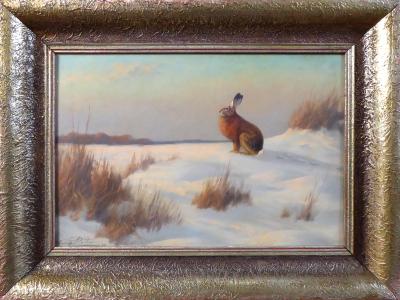 Heinz Roder - Zajíc na sněhu (1).JPG