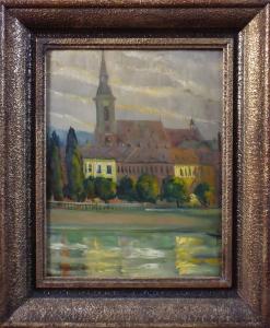 Pál Kerner - Ráno na břehu Dunaje (1).JPG