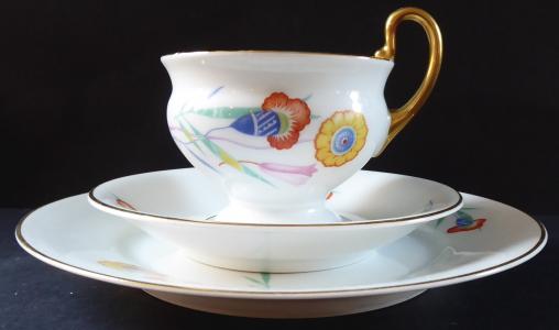 Šálek, podšálek a talířek, art deko - Thomas (1).JPG