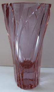 Váza s listy, alexandritové sklo - Jiřina Pastrnková (1).JPG