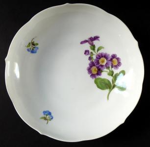 Miska s fialovými a modrými kvítky - Míšeň (1).JPG