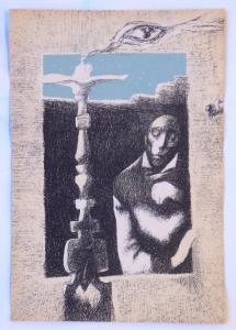 Josef Liesler, Ilustrace k J. Hora-Zápisky z nemoci 1 (1).JPG