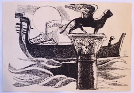Josef Liesler - Gondoly v Benátkách (1).JPG