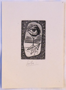 Josef Liesler - Ex libris ing. Frant. Kovaříka (1).JPG