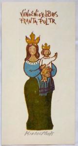 Karel Oberthor - Vánoční ex libris Franta Pultr (1).JPG