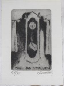 Vladimír Komárek - Ex libris Mudr. Jan Vykoukal (1).JPG