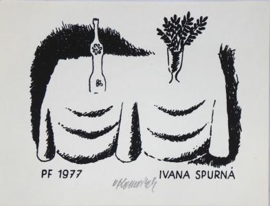 Vladimír Komárek - PF 1977 Ivana Spurná.JPG