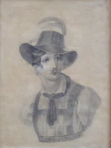 Creutzkamp - Portrét v klobouku s chocholem (2).JPG