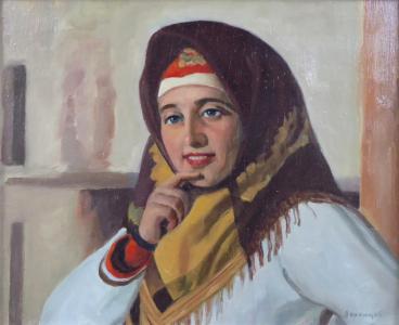 Viktor Voroncov - Ruská dívka v šátku (2).JPG