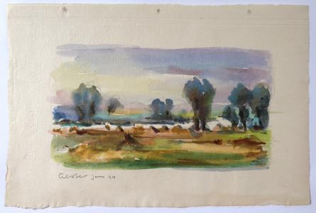 Jan Alster - Krajina s polem, řekou a stromy (1).JPG