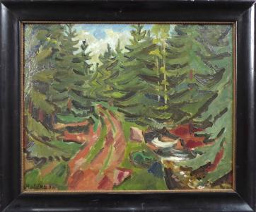 Josef Matička - Cesta lesem (1).JPG