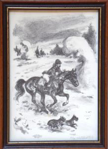 Emil Kotrba - Na vyjížďce s koněm a psi (1).JPG
