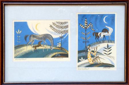Karel Oberthor - Koně, měsíc a muž s píšťalou (1).JPG