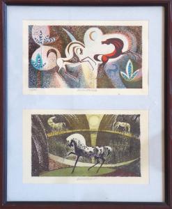 Karel Oberthor - Tři koně v krajině (1).JPG