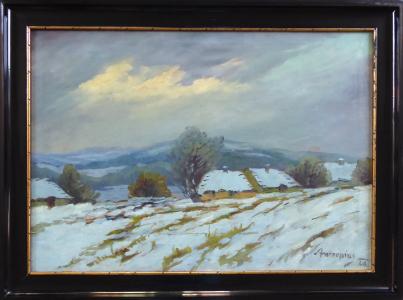 Karel Antropius - Chalupy v zimní krajině (1).JPG