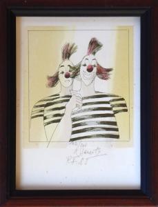 Karel Beneš - Dva klauni, pruhované tričko (1).JPG