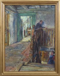 Hugo Mieth - Rozhovor na schodech starého domu (1).JPG
