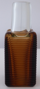 Váza z křišťálového a světle hnědého skla - František Vízner (1).JPG