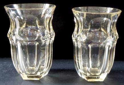 Dvě skleničky, broušené sklo - typu Moser (1).JPG