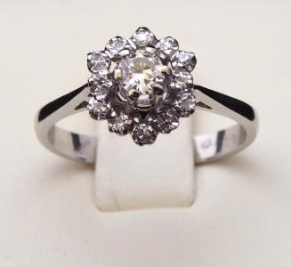 Prsten z bílého zlata, kytička - 0,30 ct brilianty (1).JPG