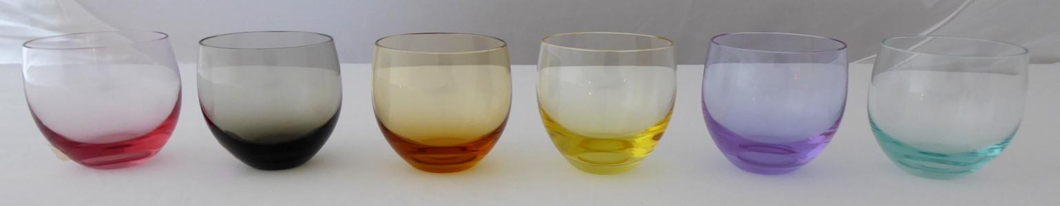 Barevné skleničky Culbuto - Rudolf Eschler, Moser (1).JPG