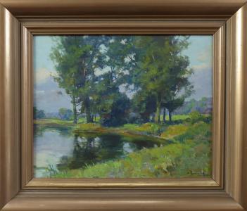 Marcel Krasický - U rybníka se stromy (1).JPG