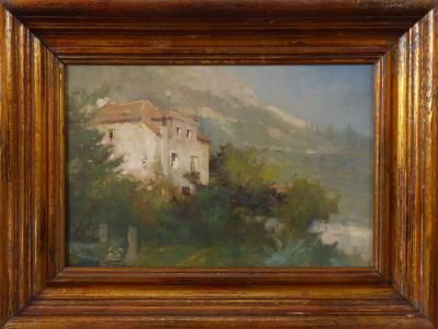 Jan Bohumil Pospíšil - Středomořská vila na pobřeží (1).JPG