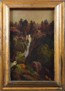 Vodopád ve skalách se stromy (1).JPG