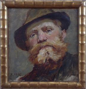Adolf Liebscher - Portrét vousatého muže v klobouku (1).JPG
