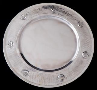 Stříbrný kulatý tác, hvězda s půlměsícem - Turecko (1).JPG