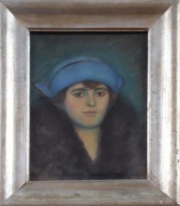 Žena v modrém kloboučku (1).JPG