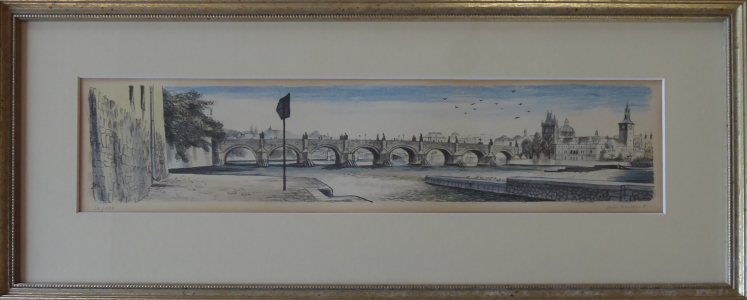 Jiří Bouda - Pohled na Karlův most od Vltavy (1).JPG