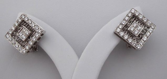 Náušnice, kosočtverce, bílé zlato - brilianty 1,50 ct (1).JPG