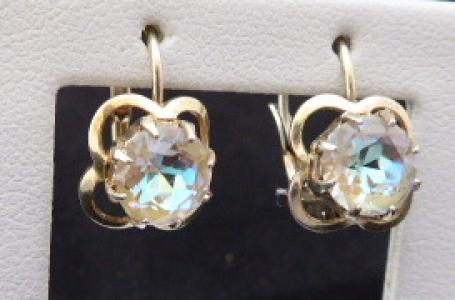 Stříbrné náušnice s bižuterními irizujícími kamínky (1).JPG