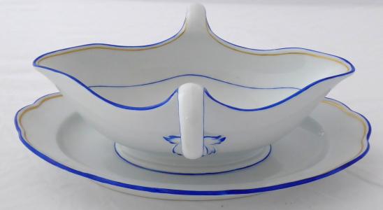 Miska na omáčku, zlatá a modrá linka - Míšeň (1).JPG