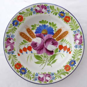 Talíř s chodským květinovým vzorem - František Míča, Klenčí (1).JPG