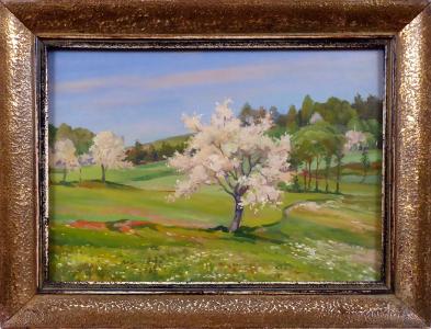 Čestmír Sucharda - Jaro, stromy s bílými květy (1).JPG