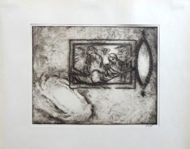 Vratislav Jan Žižka - Žena, dívka se zrcadlem ( okno do vesmíru ) (1).JPG