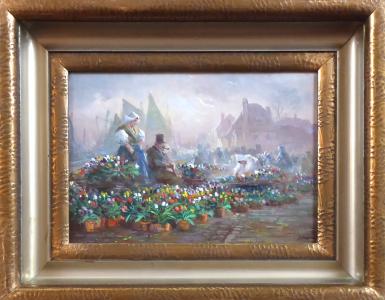 Jaroslav Pokorný - Na trhu s tulipány, Holandsko (1).JPG