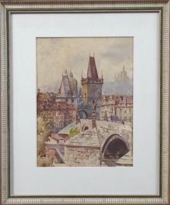 Alois Ježek - Mostecká věž, Karlův most v Praze (1).JPG