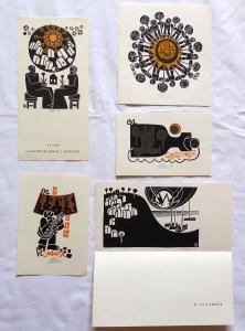 Miroslav Houra - 3 x Ex libris, PF 1977, PF 1979 (1).JPG