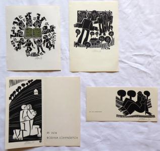 Miroslav Houra - PF 1976, PF 1978, 21. IX. 76, Ex librisJPG (1).JPG