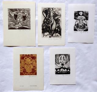 OLga Čechová - 3 x Ex libris, Akt v jablku, PF 1980 (1).JPG