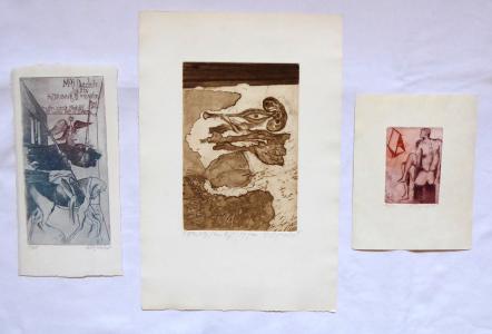 Naděžda Synecká - Flétnista, Quijote, Mužský akt (1).JPG