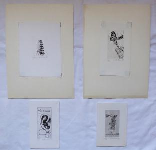 Naděžda Plíšková - Motýl, Mouchy,  2 x Ex libris (1).JPG