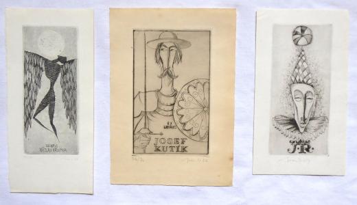 Ivan Dobroruka - Tři Ex libris (1).JPG