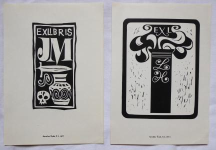 Jaroslav Šváb - Ex libris JM, Ex libris LH (1).JPG
