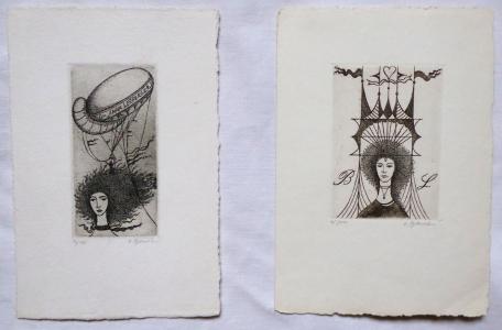 Olga Vychodilová - Dvě grafiky, Exlibris (1).JPG